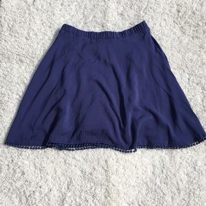 Lulus Blue Tassel Hem Knee Length Skirt